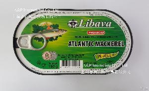 利巴瓦Libava 进口鱼罐头 大西洋鲭鱼鱼冻罐头180g