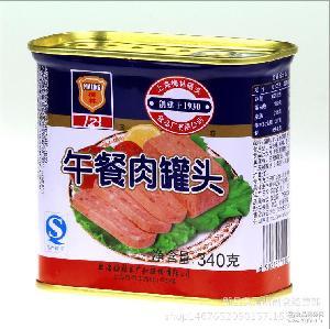 煮汤* 刷火锅 海会调味品 梅林午餐肉罐头340g*24罐 方便食品