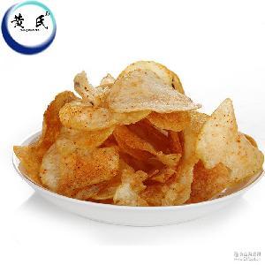 袋装薄脆薯片100g独立小包装麻辣土豆片 膨化食品休闲零食批发