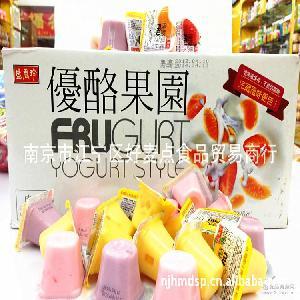 12斤/箱 台湾盛香珍果冻 综合口味 进口果冻布丁批发 优酪果园