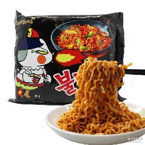 韩国进口食品三养火鸡面辣味拌面140克/袋方便面煮泡面批发