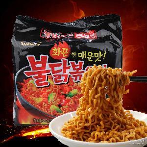 进口韩国方便面三养火鸡面炒面拉面辣鸡肉味拌面700g(5袋入)