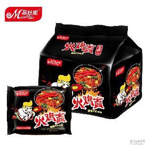慕丝妮火鸡面炒面速食泡面拉面超辣干拌面非韩国140g*5包