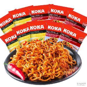 新加坡进口可口KOKA系列方便面辣味星洲黑椒鸡汤炒面85g泡面拌面