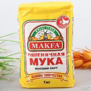 俄罗斯进口马克发面粉高筋面包粉饺子粉1kg烘培原料食品一件代发