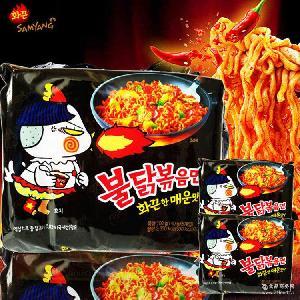 正品现货!韩国进口方便面三养火鸡面炒面超辣鸡肉味干拌面批发
