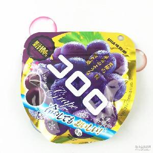 悠哈UHA 软糖/QQ水果糖40g味觉糖果 *葡萄果汁 日本进口零食