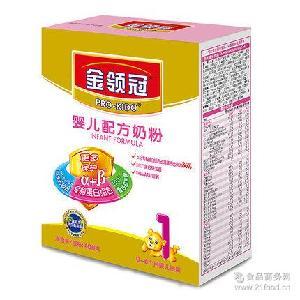 0-6月婴儿奶粉 伊利金领冠1段婴儿配方奶粉400g克盒