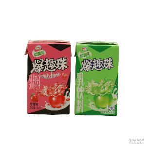 伊利优酸乳爆趣珠儿童牛奶饮料250ml*24 草莓 苹果