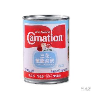 整箱批发 烘焙原料 淡炼乳正品原装410g罐装 雀巢三花植脂淡奶