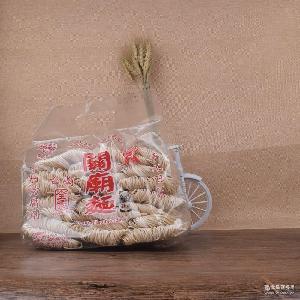 台湾义峰关庙面细1200g全素手工纯素食者圆义进口无添加日晒面条