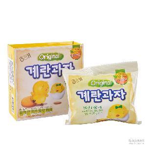 人气韩国进口休闲食品 婴儿童休闲零食批发 海太小鸡蛋饼干