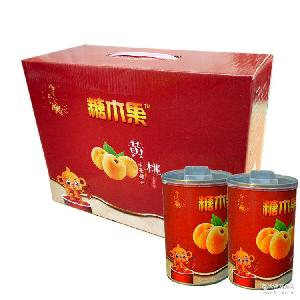 糖木果黄桃罐头425G 微商* 招代理一件代发 砀山产地 厂家批发