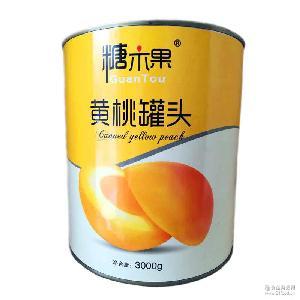 糖木果新品 烘焙 火锅店三公斤*6罐装糖水黄桃罐头 砀山产地餐饮