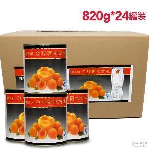 砀山*糖水黄桃罐头烘焙820g*24/箱餐饮直供厂家直销水果罐头