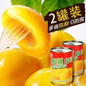 黄桃水果罐头食品厂家批发 正宗砀山黄桃罐头食品 试吃装水果罐头
