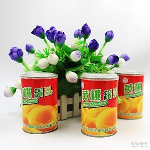 大桃对开生态健康 正宗砀山黄桃罐头 多国品牌黄桃水果罐头批发