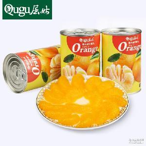 屈姑橘子罐头 糖水橘子罐头425g*4罐装 新鲜橘子制作