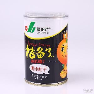 支持OEM代工水果罐头糖水橘子食品罐头桔子425GX12密封罐一件代发