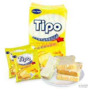 越南进口 Tipo友谊牛奶鸡蛋酥脆正宗实惠面包干135g*40早餐饼干