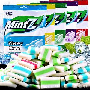 热销产品 125克*20包/箱 印尼进口软糖批发 MINTZ薄荷味软糖批发