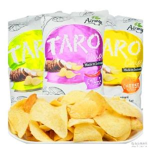 膨化零食批发促销 印尼进口零食 爱迷芋芋头片120g