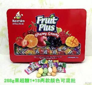 批发进口马来西亚果超什锦软糖