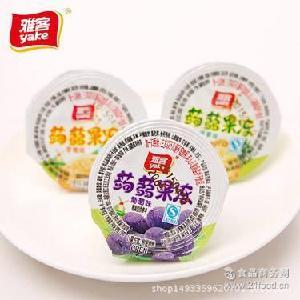 雅客蒟蒻果冻荔枝葡萄香橙菠萝多口味儿童零食水果冻布丁箱装