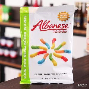 缤纷糖果 美国进口软糖 Albanese 奥本尼斯迷你QQ虫软糖