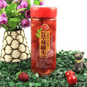 橘子 黄桃 椰果450g 草莓 白桃 雪梨 冰花水果罐头 山楂 什锦