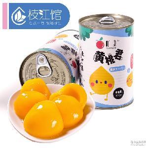 新鲜水果 425g×4罐 吖果 糖水黄桃罐头