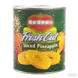 新鲜罐装菲律宾糖水菠萝罐头 正宗美味烘焙材料 盛安零食罐头