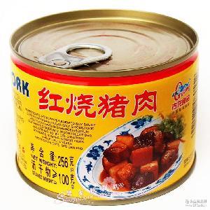 厦门名优特产出口品牌猪肉罐头食品256克古龙红烧肉罐头