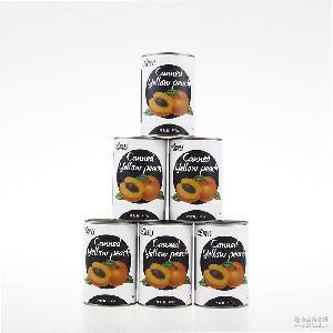 梵谷高端定制罐头 对开黄桃水果罐头 425g一件代发 厂家直销