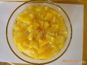 糖水黄桃罐头不规则黄桃条条不规则黄桃丁罐头