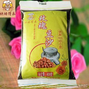 厂家直销玫瑰豆沙 馅料糖纳豆禹城特产400g/蜜豆月饼馅料一件起批