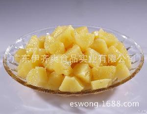 伊齐爽牌罐装糖水菠萝长块罐头 厂家生产 酒店餐饮果冻加工