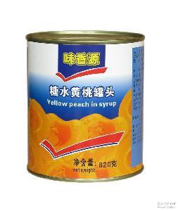 厂家直发优质味香源糖水黄桃罐头一件24罐