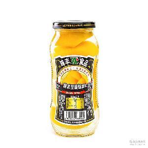 黄桃罐头 水果罐头黄桃对开罐头零食整箱510g*12 罐装