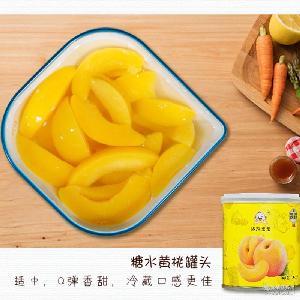 美味黄桃水果罐头 儿童宝宝休闲日常零食 厂家批发 新鲜无农残