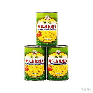 绿色蔬菜罐头 供应甜玉米粒罐头 烘焙原料432g罐装甜玉米粒批发