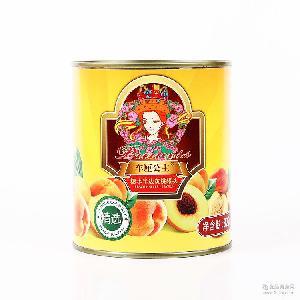 精选车厘子公主822g糖水半边黄桃水果罐头批发 棒师傅烘焙罐头