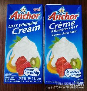 新西兰进口 安佳淡奶油1L*12 批发 烘焙原料