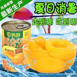 糖水黄桃罐头【5/12罐 单罐425克】黄桃罐头新鲜水果罐头砀山特产