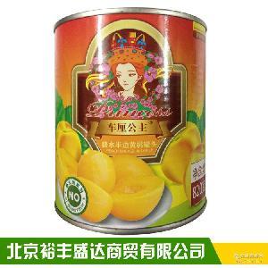 批发供应车厘公主糖水黄桃罐头 820g黄桃水果桃子罐头烘焙原料