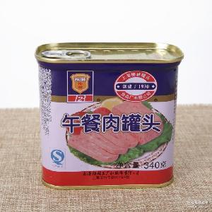 上海梅林午餐肉罐头食品 即食配早餐三明治 梅林午餐肉340g