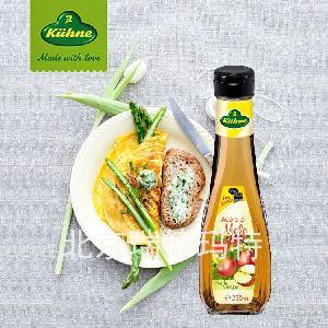 进口德国Kuehne冠利苹果醋酿造食醋调味品调味料250ml*6瓶/箱