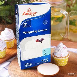 新西兰进口稀奶油 安佳淡奶油1L*12/箱 烘焙动物奶油 蛋糕原料