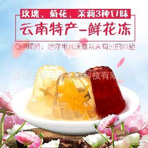 云南鲜花果冻玫瑰茉莉菊花5kg/件厂家直销招代理 果冻批发
