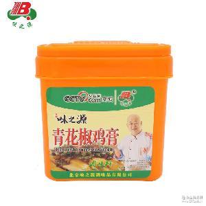 厂家直销味之源青花椒鸡膏鸡骨髓浸膏调味料1000g/桶泡椒凤爪调料